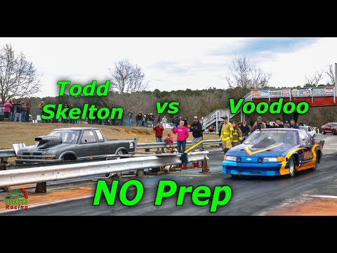 Todd Skelton vs Voodoo Street Car No Prep Battlefield Dragway (4k)