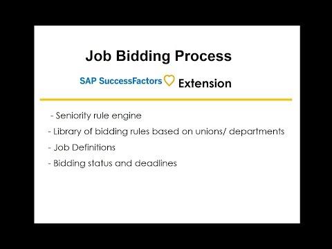 Job Bidding With Seniority Rules For Unionized Workforce SAP SuccessFactors Extension