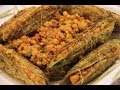 Vegetarian Stuffed Bitter Gourd With Gram Lentil |  دال بھرے کریلے | Daal Karelay