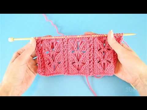 Lace Hearts - knitting stitch pattern