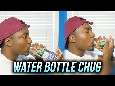 Water Bottle Chug (First Attempts) | HOW FAST I CAN DRINK A BOTTLE WATER!