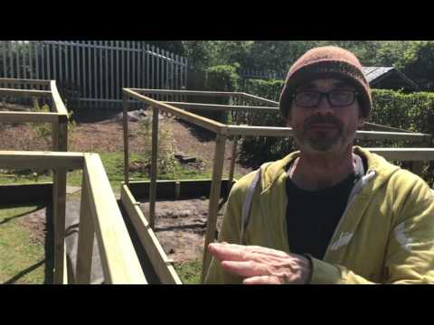 Fruit and vegetable  cages for raised beds, Part 1