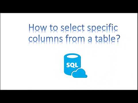 Learn SQL in 3 Minutes--How to select specific columns from a table