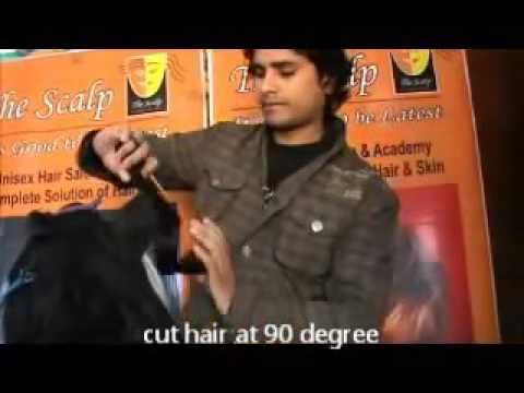 step cut hair cut video