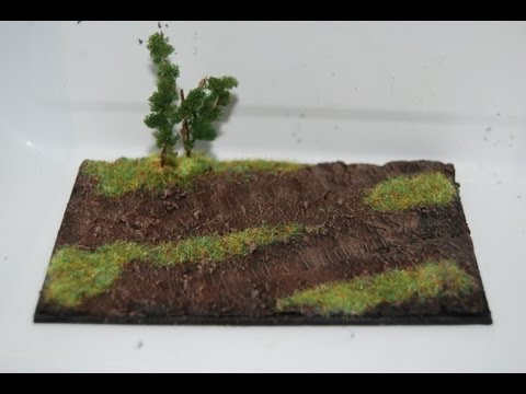 How To Make a Small Diorama Base