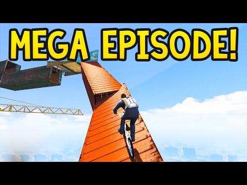 EXTRA HARD MEGA EPISODE! GTA 5 Funny Moments: Olli43 vs Geo23 - Episode 45
