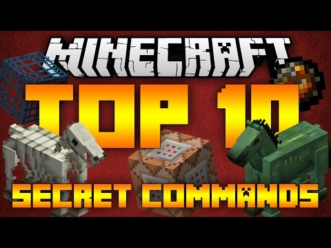 Top 10 Minecraft Secret Commands (Minecraft 1.12/1.11.2) - 2017 [HD]