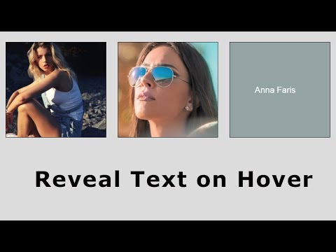 Image Hover Effect | Show Text Over An Image On Hover Without JavaScript