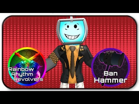 Roblox Zombie Rush Rainbow Rhythm Revolvers and Ban Hammer Gameplay