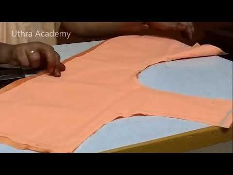 Blouse Stitching  (Back Part)- Part 5
