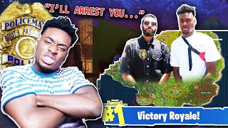 USING A Police Officer To WIN Fortnite: Battle Royale!