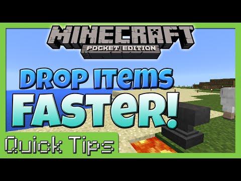 Quick Tip -  Drop Items Quickly!! - Minecraft PE
