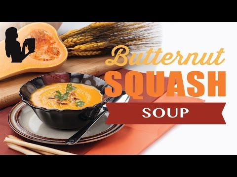Holiday Butternut Squash Soup recipe made using a Vitamix or Blendtec commercial blender