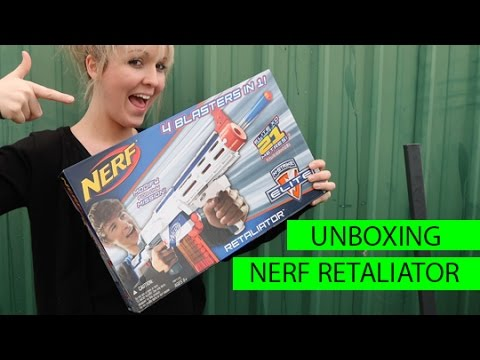 NERF Retaliator Unboxing and Target Shooting!!