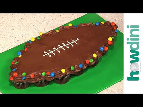Birthday Cake Ideas: How to Make Pull-Apart Football Cupcakes