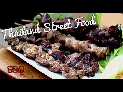 Thai Street Food BBQ - Chicken Liver Heart Giblet Recipe - Thai Chicken BBQ Recipe 🇹🇭