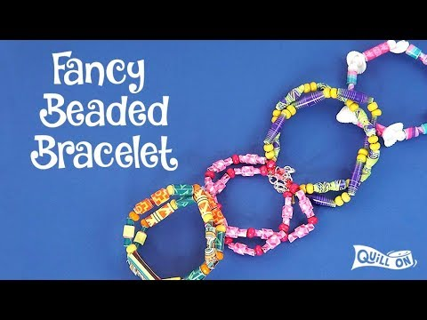 Make your own - Paper beads bracelets