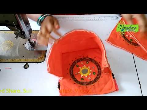 How To Make Fabric Purse/Clutch Bag Part-2 || How To Make Fabric Purse With Embroidery Work at Home
