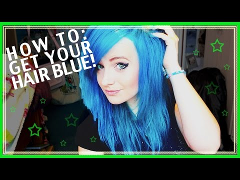 ★ HOW TO GET BRIGHT BLUE HAIR!! ★