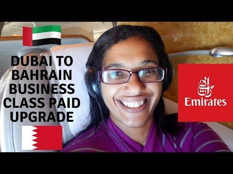 Dubai to Bahrain business class   EK837 flight review