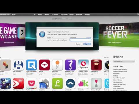 How to Redeem Gift Card from App Store iTunes Store iBookstore Mac App Store