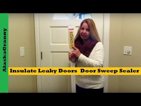 Insulate Leaky Doors With Door Sweep Sealer