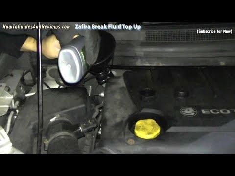 How to Top Up Vauxhall Zafira's Brake / Clutch Fluid Reservoir