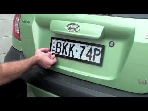 How to install Altrex Number Plate Protectors