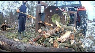 Fastest Automatic Firewood Processing Machine, Homemade Modern Wood Cutting Chainsaw Machines