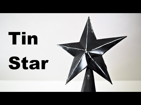 Making a Christmas Star | Using Scrap Tin to Make a Metal Five Pointed Texas Star