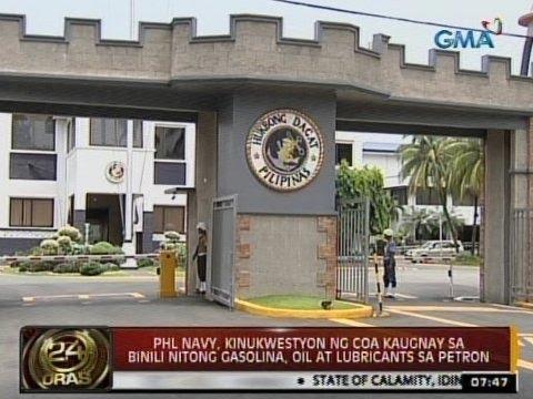 24Oras: Phl Navy, kinukuwestiyon ng COA kaugnay sa binili nitong gasolina