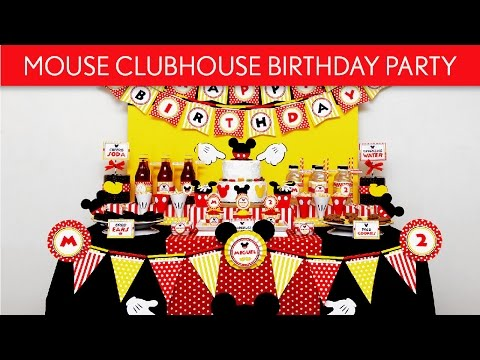 Mouse Clubhouse Birthday Party Ideas // Mouse Clubhouse - B124
