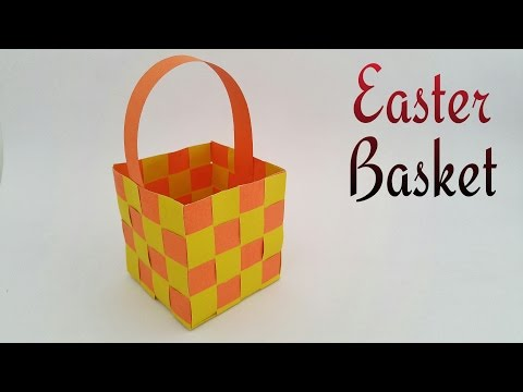 Easter Basket (woven) - DIY Tutorial by Paper Folds ❤️