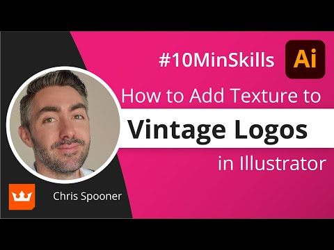 Quickly add texture to a vintage logo in Illustrator