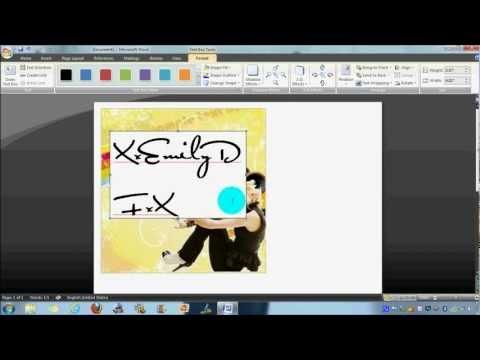Make Icons Using Microsoft Word