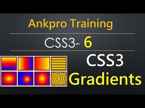 CSS3 6 - Gradient in CSS | Linear and Radial gradients | Gradient property and gradient values