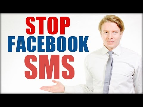 How to stop Facebook sms messages notifications to mobile 2016