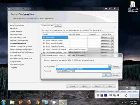 Installing SQL Server R2 2008 in windows 7