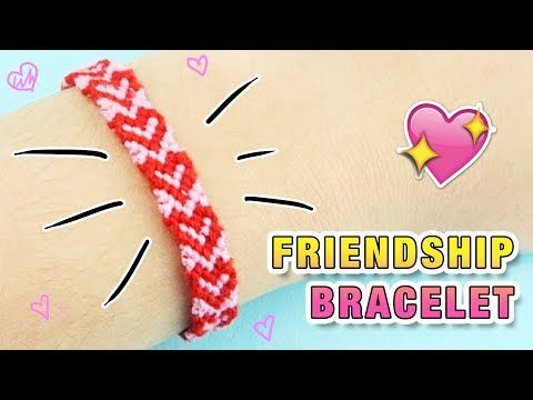 HEART FRIENDSHIP BRACELET ♥  BFF Gift Idea! DIY Tutorial for Beginners