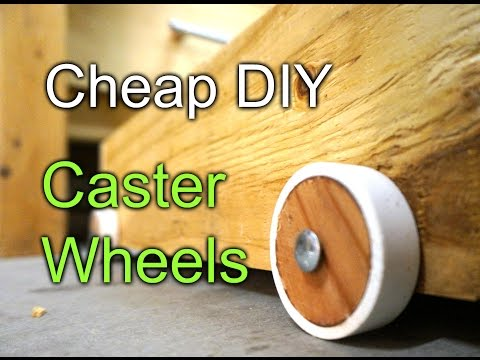 Cheap DIY caster wheels - workbench drawers