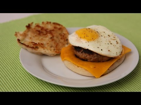 Sausage Egg & Cheese Breakfast Sandwich Recipe - Laura Vitale - Laura in the Kitchen Episode 440