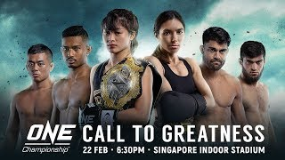 🔴 [Live in HD] ONE Championship: CALL TO GREATNESS
