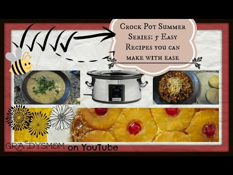 Crock Pot Compilation : 5 Easy Recipes  Set it & Forget it!