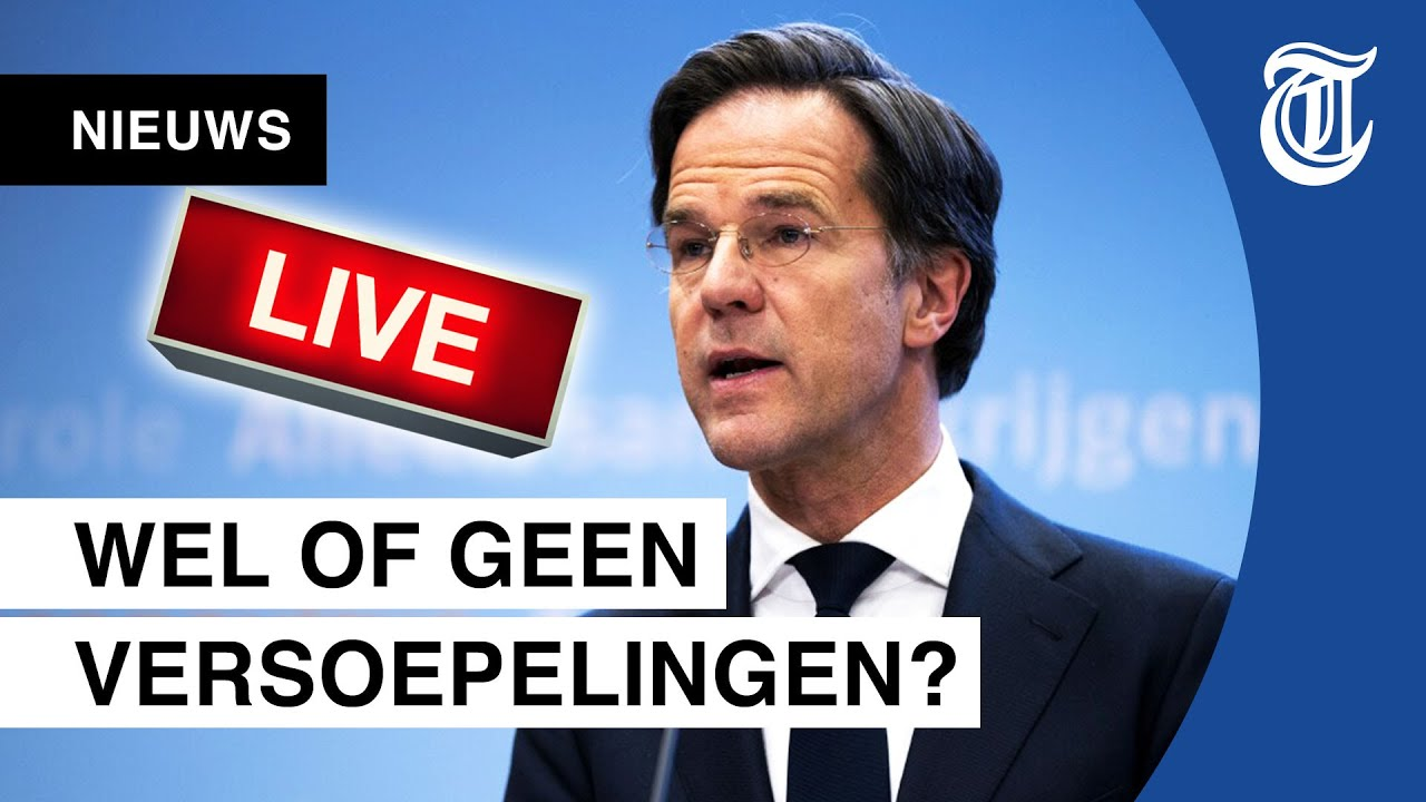 KIJK LIVE: Rutte en De Jonge geven persconferentie
