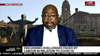 Discussing challenges faced by labour in relation to COVID-19