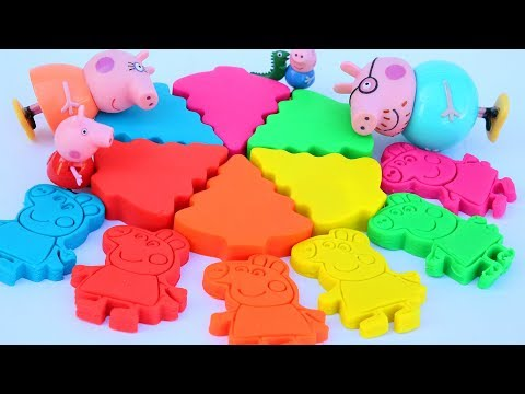 Learn Colors Peppa Pig Play Doh Cake Modelling Clay Kids Video