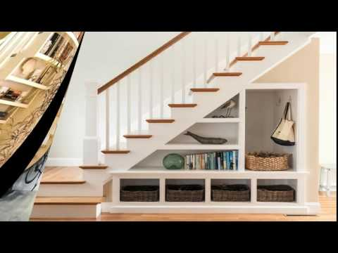 Under Stairs Space Design Ideas : Understair Bookcase and Display - Room Ideas