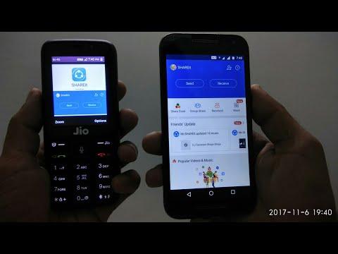 Jio phone : Share files via SHAREit ✓