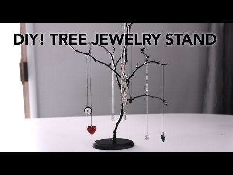 DIY Easy Tree Jewelry Stands In Under 20 Minutes For $10