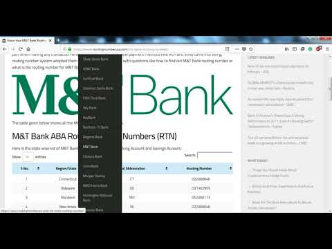 How to Find M&T Bank Routing Number?